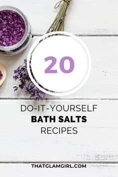 DIY Bath Salts Recipes - How to make homemade bath salts? Diy Bath Salts For Colds, Best Diy Bath Salts, Diy Bath Salts With Essential Oils, Diy Beauty, Beauty Hacks, Bath Salts Recipe, No Salt Recipes, Clays, Sore Muscles