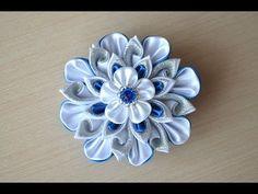 Цветок мастера Мастер класс канзаши цветы из лент DIY Flower ribbons kanzashi handmade September 1 - YouTube