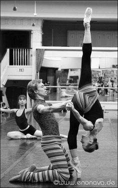 Nadja Saidakova in rehearsal