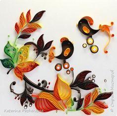 Картина панно рисунок Квиллинг Моя Осень  Бумага Картон фото 1