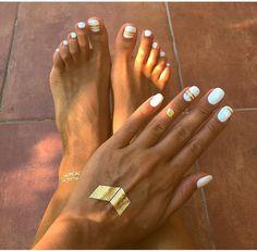 39 Trendy Pedicure C Gel Pedicure, Pedicure Colors, Pedicure Designs, Toe Nail Designs, Mani Pedi, Art Designs, Toe Nail Color, Nail Colors, White Nails