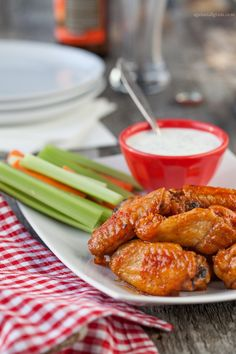 Buffalo Wings with Dairy-Free Ranch Dressing - Against All Grain