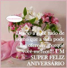 Flores para Um super feliz aniversário!!! - ツ Imagens, Animações e Mensagens de Feliz Aniversário ツ