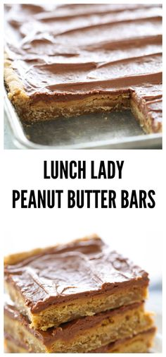 Peanut Butter Bars Lunch Lady Peanut Butter Bars from . These are the BEST cookie bar of all time.Lunch Lady Peanut Butter Bars from . These are the BEST cookie bar of all time. Quick Dessert Recipes, Desserts To Make, Köstliche Desserts, Delicious Desserts, Yummy Food, Delicious Cookies, Recipes Dinner, Bar Cookie Recipes, Healthy Recipes