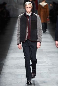 Fendi Fall / Winter 2015 - Man in Sheepskin Shaerling Jacket