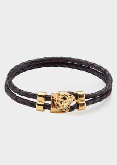 Versace - Medusa leather bracelet
