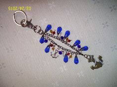 Nautical Key Chain, Key Fob with Anchor - pinned by pin4etsy.com