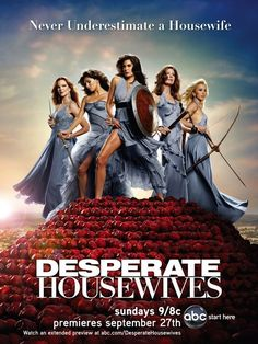 Created by Marc Cherry. With Teri Hatcher, Felicity Huffman, Marcia Cross, Eva Longoria. Secrets and truths unfold through the lives of female friends in one suburban neighborhood, after the mysterious suicide of a neighbor.