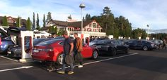 Tesla opens its first 20-stall Supercharger at now the worlds largest fast-charging station. #Tesla #Models #car #Automotive #cars #Autos