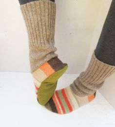 Slippers Made From Old Sweaters - Bing Images