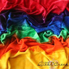 Bamboo Velour Blanket in Rainbow Stripes by ClosetonQueenCreek, $30.00