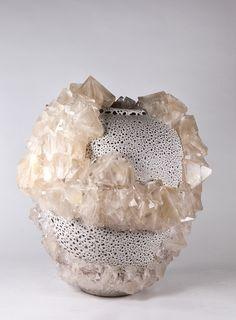 "Lukas Wegwerth #ceramics #crystals [""crystallization 73"", 2015]"