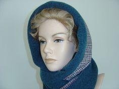 Weiteres - Kapuzenschal Wendekapuze Jaspis Karo Öko Lana - ein Designerstück von hofatelier-mode bei DaWanda