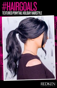 This textured ponytail is perfect for the holidays!