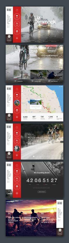 I like the text interacting w/ the bicyclist Credits Agency: Republik Media Production: Michal Kenderski… Web Design Gallery, Modern Web Design, Web Ui Design, Web Design Trends, Media Design, Gui Interface, User Interface Design, Website Layout, Web Layout
