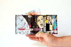 STAR WARS princess Leia Portemonnaie Comic upcycling Unikat! PauwPauw Brieftasche, Geldbeutel Krieg der Sterne Comic wallet made in Berlin