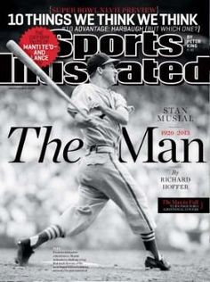 One of four Sports Illustrated covers honoring the memory of St. Louis Cardinals baseball player Stan Musial ~ Stan Musial Played In An Exhibition Game In Omaha With The St. Louis Cardinals In The At Rosenblatt Stadium. St Louis Baseball, St Louis Cardinals Baseball, Stl Cardinals, Sports Magazine Covers, Baseball Players, Baseball Cards, Si Cover, Cardinals Players, Baseball Series
