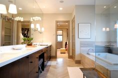 This is straight up bathroom envy! #CustomHomes #ContemporaryDecor #Inspiration