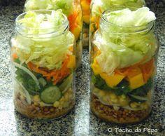 O tacho da Pepa: Salada no pote A ideia é sensacional. Tinha que ser coisa das meninas do Tacho.