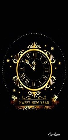 happy new year clock countdown to midnight animated gif happy new