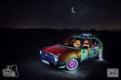 VW Golf 2 MKII CL Ratte Hoodride Volkswagen RAT STYLE by Ronny Light Photography, via Flickr