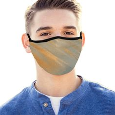 Featuring elastic ear loop, this mouth mask is large enough for covering nose and mouth, very comfortable to wear. Mouth Mask Design, Ideal Image, Gucci Fashion, Fashion Face, Leather Texture, Gay Pride, Green And Brown, 6 Years, Blue Denim