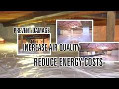 How to encapsulate your crawlspace - YouTube Crawl Space Insulation, Crawl Space Repair, Basement Insulation, Crawl Space Encapsulation, Mobile Home Makeovers, California Bungalow, Gate House, Home Repairs, Home Ownership