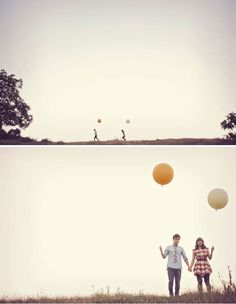 Balloons are fun. The use of negative space in these photos is really great! Sometimes emptiness is fullness.