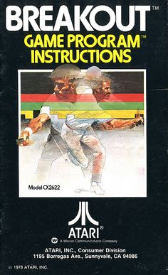 """The manual cover for """"Breakout"""" by Atari. The game was released in arcades in 1976, although this Atari 2600 port was produced in 1978."""