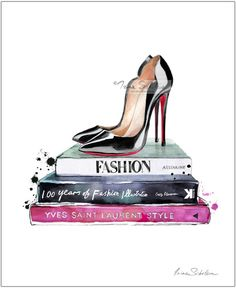 Christian Louboutin Print Louboutins Fashion by IrinaIllustration