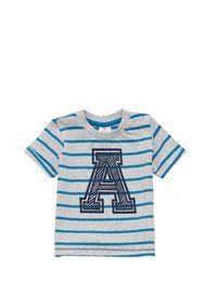 F&F Striped Letter A T-Shirt