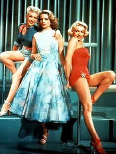 Betty  Lauren  Marilyn as fashion models in How To Marry A Millionaire, 1953.