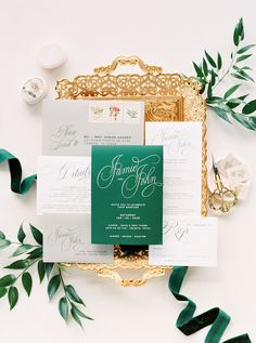 A Luxe Greenery-Filled Texas Fête with Beautiful Blooms Galore | The Perfect Palette Wedding Table Flowers, White Wedding Flowers, Wedding Colors, Elegant Wedding Invitations, Wedding Stationary, Emerald Green Weddings, Wedding Day, Wedding Dreams, Dream Wedding