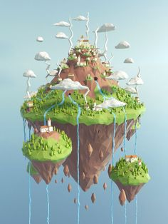 Hello everyone! Like the illustrations in the low-poly style. I decided to make something of their own)