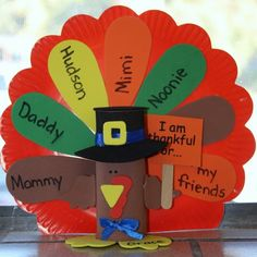 Great way to get kids to think about what they are thankful for...could be a keepsake as well