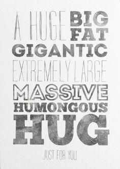 """Kaart """"Hug"""""""