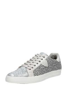 Black & White dames sneakers met dierenprint van Tamaris #animalprint