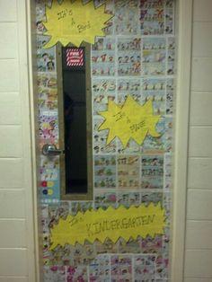My friend's classroom door for her superhero theme classroom.