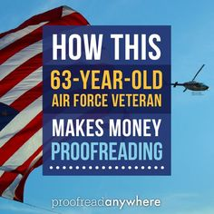 Richard started his veteran-owned proofreading business at 63 -- and he's rocking it!