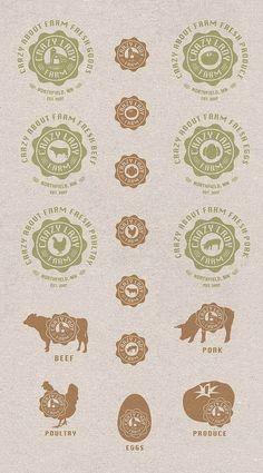 Crazy Lady Farm Branding by Keith Brenner, via Behance