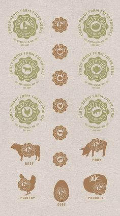 Crazy Lady Farm Branding by Keith Brenner, via Behance