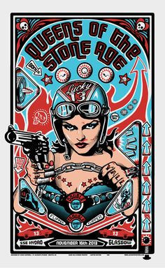 Tough chicks (series). Gun totting hot babe at the wheel of a hot rod.  Is that too sexual?