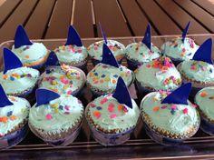 Cupcakes de Tiburón