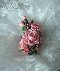 Accessory Hair Clip Corsage Floral Pin by AddABloomBoutique