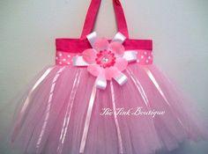 Pink Swirls Tutu Bag