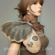 Spectacular felted scarf - moth's wing at Etsy...would be so much fun for first grade