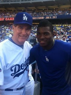 The past and the here and NOW! Puig is the real deal. @Stephanie Gray. @DodgerUpdates pic.twitter.com/b0ltTrPegi