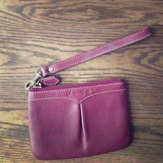 Dooney and Bourke Burgundy Wristlet Dooney and Bourke Burgundy Wristlet. Great condition. Dooney & Bourke Bags Clutches & Wristlets