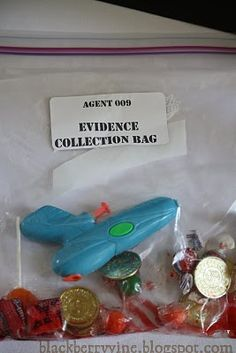 more spy party ideas - ID badges, cracking codes, defusing bombs (popping black balloons), goodie bags