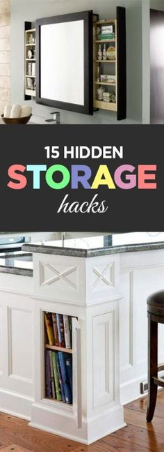 15 Hidden Storage Hacks                                                                                                                                                                                 More